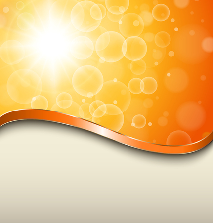 Abstract orange background, sunny vector illustration. Stock Vector - 25253364