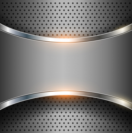 Elegante vector metallico, astratto. Archivio Fotografico - 25253456