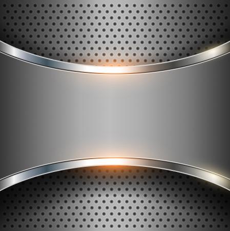 grey backgrounds: Vector met�lico, elegante fondo abstracto.
