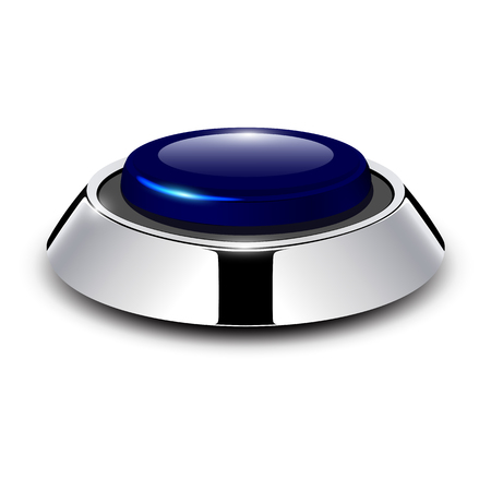 Button with metallic Stock Vector - 25470023