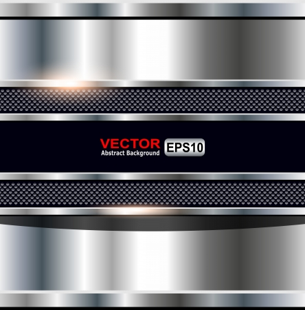 Abstract background metallic, vector shiny illustration. Stock Vector - 25470031