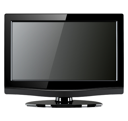 lcd tv monitor isolated Stock Vector - 25995065