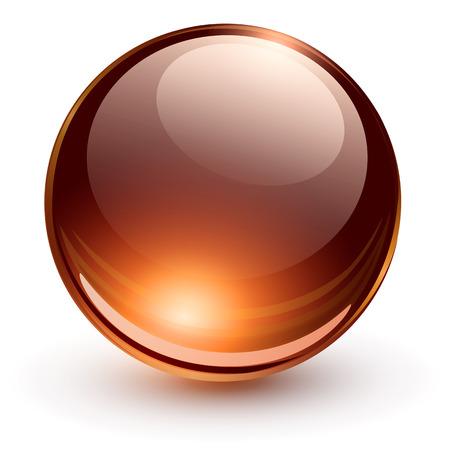 3D glass sphere, vector illustration. Stock Vector - 25995066