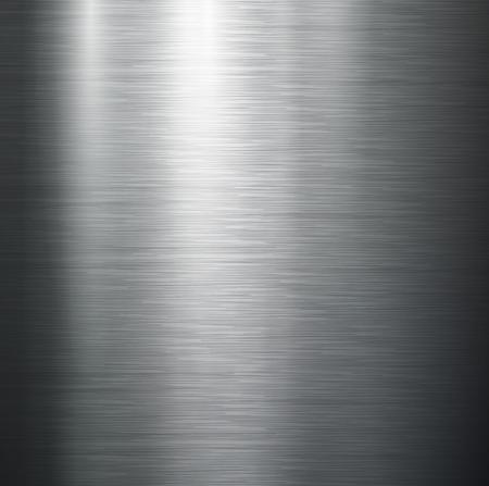 磨かれた金属、スチール テクスチャ ベクトル。