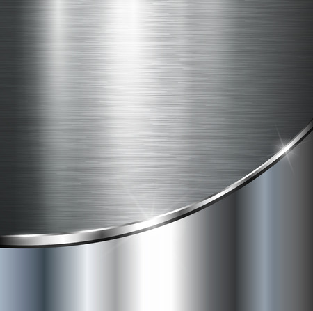 Metallic background, vector polished steel texture. Vector