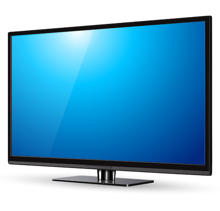 tv screen: TV, modern flat screen lcd, led, vector illustration.