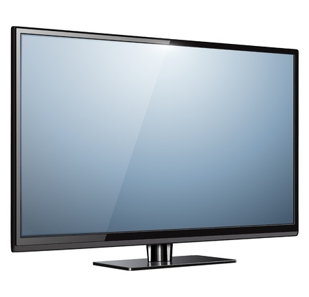 television screen: TV, modern flat screen lcd, led, vector illustration.