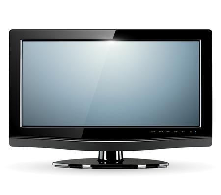 lcd tv monitor, vector illustration