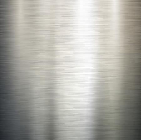 Vector gepolijst metaal, staal textuur. Stock Illustratie