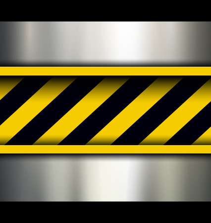 Background with warning stripes, vector illustration. Stock Vector - 26160929
