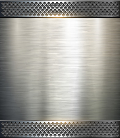 metal: Background metallic, technology vector illustration. Illustration