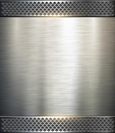 cromo: Met�lica de fondo, ilustraci�n tecnolog�a vector.