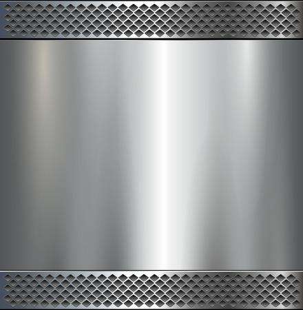 Fond, texture en métal poli, vector.
