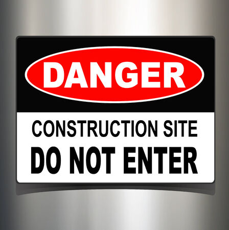 dangerous construction: Danger sign, warning technology background
