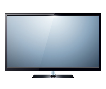 TV, modern flat screen lcd, led, isolated Vector