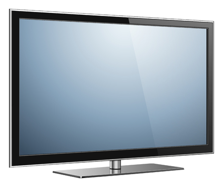 led display: TV, modern flat screen lcd, led, isolated
