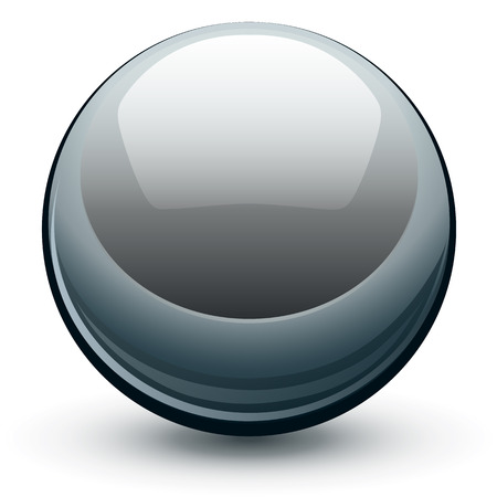 Vector metallic chrome sphere, metal glossy ball. Vector
