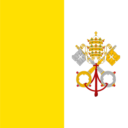 vatican city: Vatican City flag, detailed vector illustration.