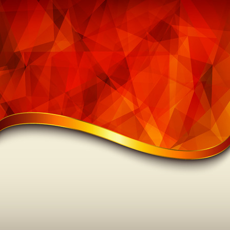 Abstract background, orange vector polygons texture illustration   Vector