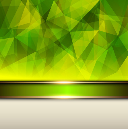 Abstract background, green vector polygons texture illustration   Vector