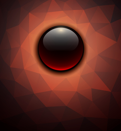 Abstract background glossy sphere on polygons texture, vector illustration  Vector