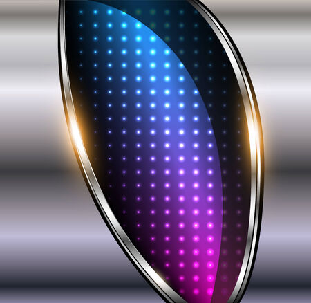 Abstract background 3D metallic with dots pattern, vector illustration.