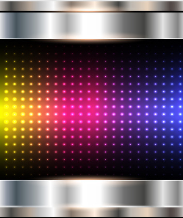 Abstract background, metallic with rainbow dots pattern, vector illustration. Vector