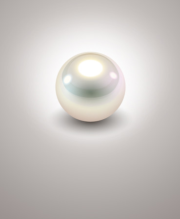 pearl jewelry: Background beige with pearl, vector illustration.