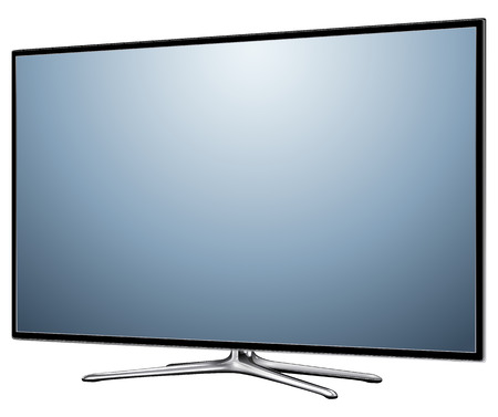 lcd display: TV, modern flat screen lcd, led, isolated
