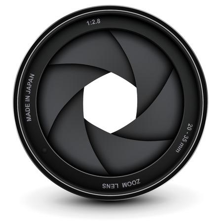 Camera lens shutter, vector illustration.