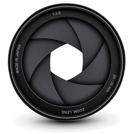 Camera lens shutter, vector illustration. Vector
