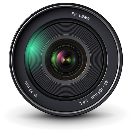 camera photo lens, vector illustration. Vector