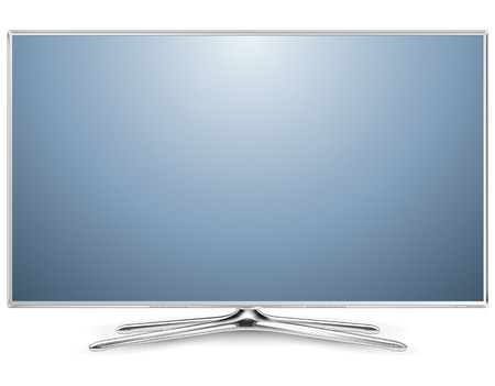 TV, modern flat screen lcd, led. Vector