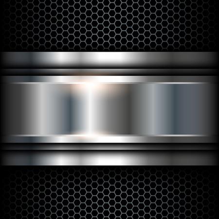 cromo: Resumen de fondo metálico ilustración brillante.