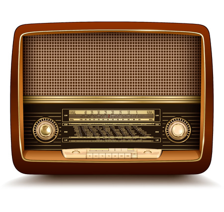 Radio retro, realistic illustration.