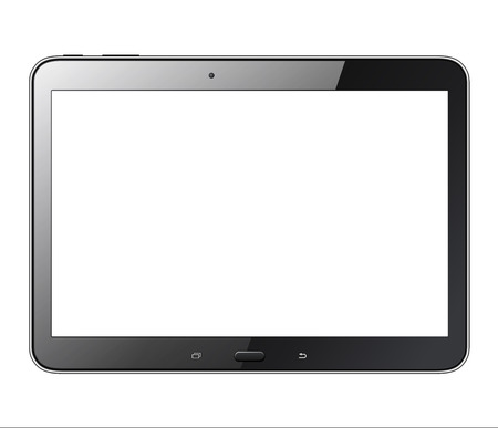 Tablet computer isolated with blank screen, realistic illustration