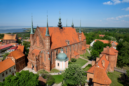 Frombork Cathedral, famous church where Copernicus work in Poland, Europe