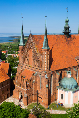 Frombork Cathedral, famous church in Poland, Europe