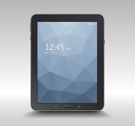Tablet computer, realistic vector illustration Vector