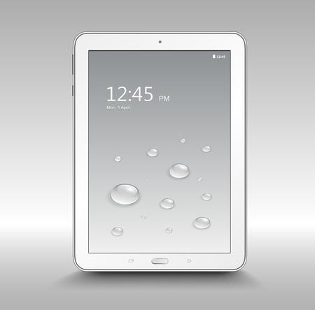 Tablet computer, realistic vector illustration Stock Vector - 29082060