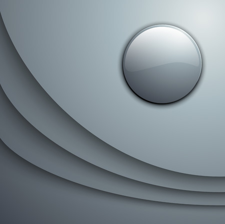 gray strip: Abstract background with 3d  vector waves and circles.