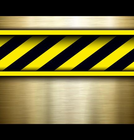 steel bar: Background with warning stripes, vector illustration.