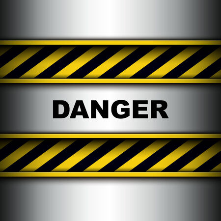 Background with warning stripes, vector illustration. Vector
