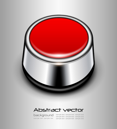 Background with red alarm button, vector design. Vector