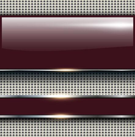 bordo: Elegant 3d glossy background, vector illustration.