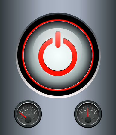 power switch: Power button background, vector illustration.