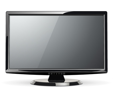 tv screen: Monitor, led TV, vector illustration. Illustration