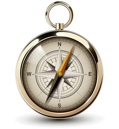 Kompas met windrose. Vector Illustratie.