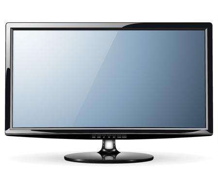 oled: Monitor, led TV, vector illustration. Illustration