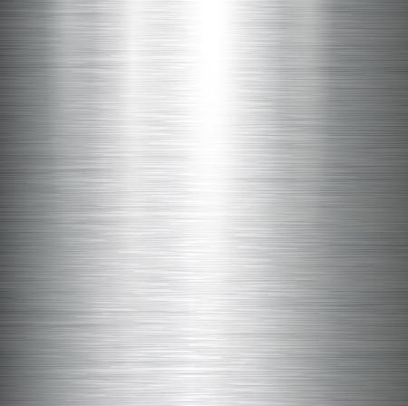 Vector polished metal, steel texture. Stock Illustratie